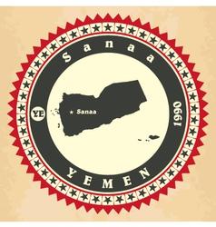 Vintage label-sticker cards of Yemen vector image