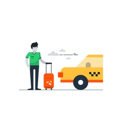 Arrival at the airport pick up passenger vector image