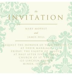 damask invitation card vector image vector image