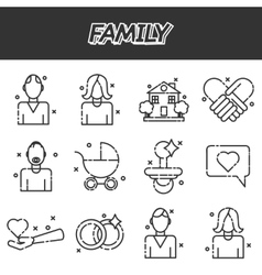 Family icons set vector image