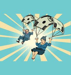 golden parachute financial compensation vector image vector image