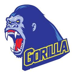 Gorilla mascot vector image