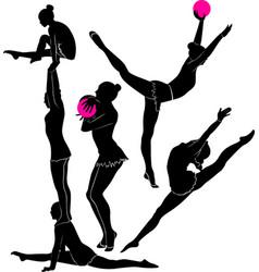 gymnast athlete vector image vector image