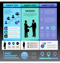 Infographics Presentation Layout Template vector image vector image