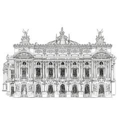 opera garnier in paris vector image