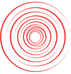 red pain rings vector image vector image