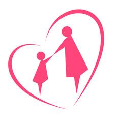 the image of motherhood and childhood vector image
