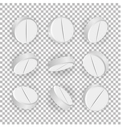 white 3d medical pills or drugs vector image vector image