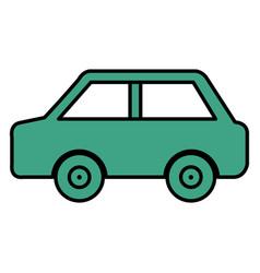 car sedan isolated icon vector image