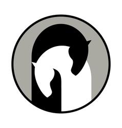 Horse symbol vector image vector image