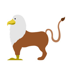isolated griffin icon vector image vector image