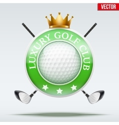 Label of Luxury Golf clubs vector image vector image