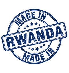 made in rwanda blue grunge round stamp vector image vector image