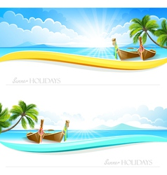 Paradise Island backgrounds vector image