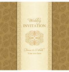Turkish cucumber wedding invitation gold vector image