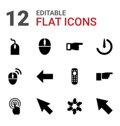 12 click icons vector