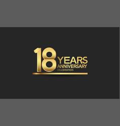 18 years anniversary celebration with elegant vector