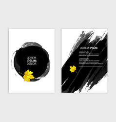 A4 brochure cover design autumn style stylized vector