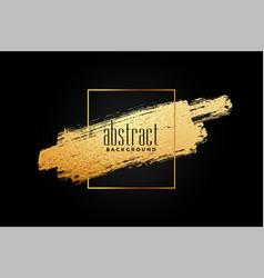 abstract golden brush stroke frame background vector image