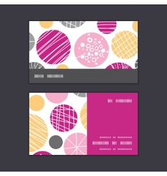 Abstract textured bubbles horizontal stripe frame vector