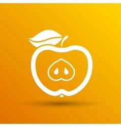 apple element logo nature vector image