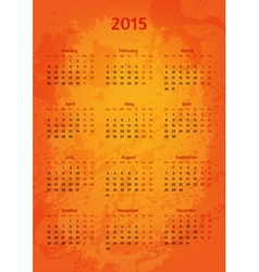 Artistic 2015 year calendar vector image
