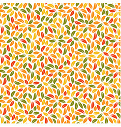 autumn leaves seamless pattern fall foliage vector image