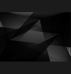 black and gray color abstract geometric vector image
