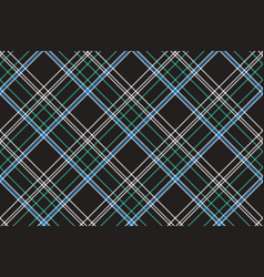 Black check plaid fabric texture seamless pattern vector