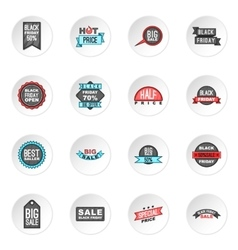 Black Friday icons set vector image