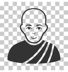 Buddhist Monk Icon vector image