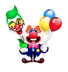 cartoon beautiful clown vector image