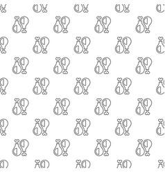 chicken leg pattern seamless vector image