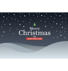 Classic Marry Christmas background with green vector image