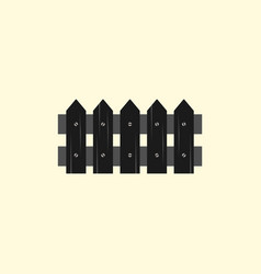 Classic wooden fence icon vector