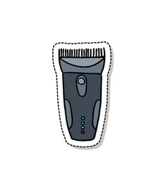 Clippers hair doodle icon vector