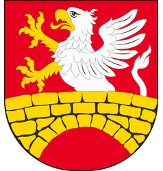 coat of arms of gmina zamosc in lublin vector image