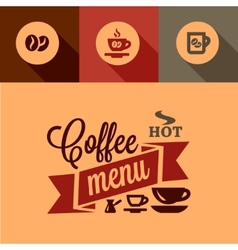 Coffee menu design elements vector