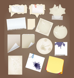Collectionn of vintage paper sheets vector image