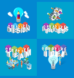 creative design concepts set vector image
