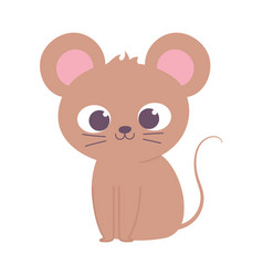 cute little mouse animal cartoon isolated design vector image