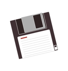 Data diskette icon vector