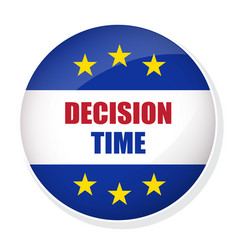Decision time pin button vector