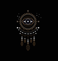 Dream trap religion shamanism spirituality vector