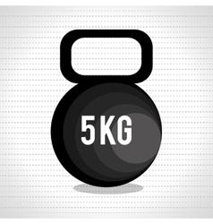dumbbell fitness design vector image