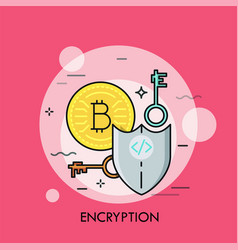 encryption thin line concept vector image