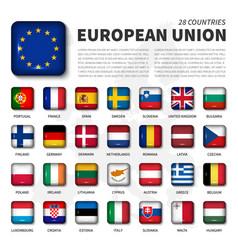 european union eu and membership flag vector image