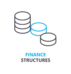 Finance structures concept outline icon linear vector