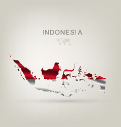 flag indonesia as a country vector image