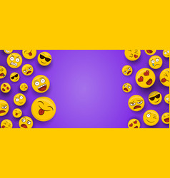 fun smiley face icons copy space background vector image
